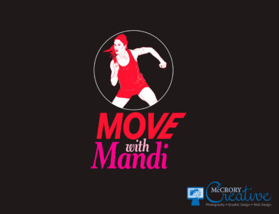 Move with Mandi logo design