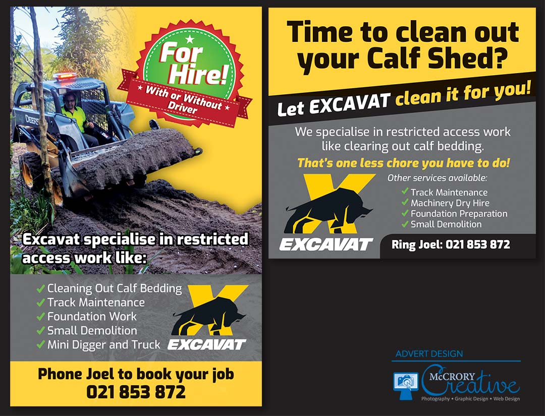 Excavat Advert Design