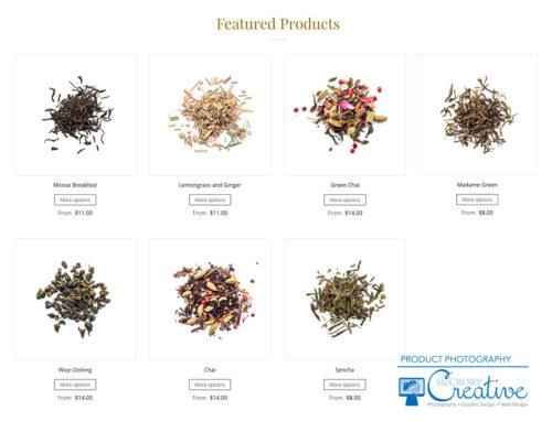 Moose Tea Product Photography