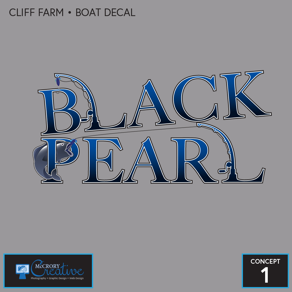 Black Pearl Boat Decal 1