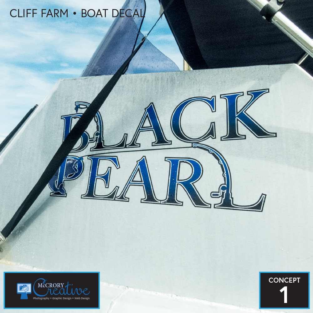 Black Pearl Boat Decal 2