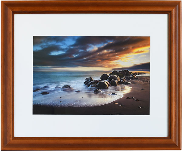 Ohawe Sunset Landscape Framed