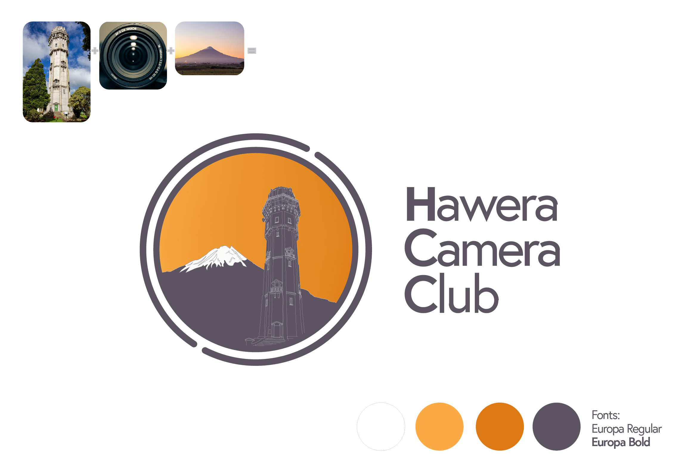Hawera Camera Club Logo Design