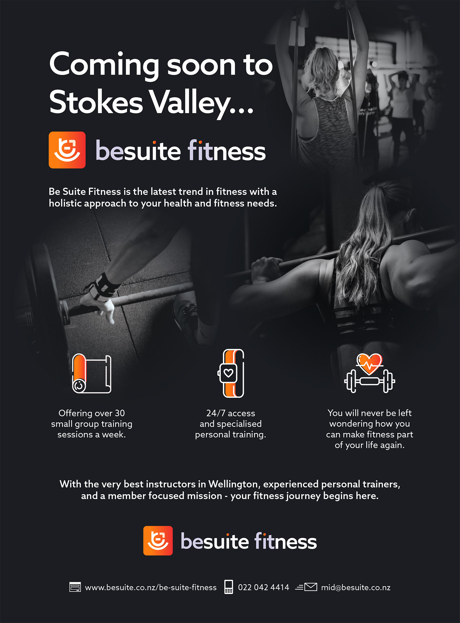 BeSuite Fitness designed by McCrory Creative