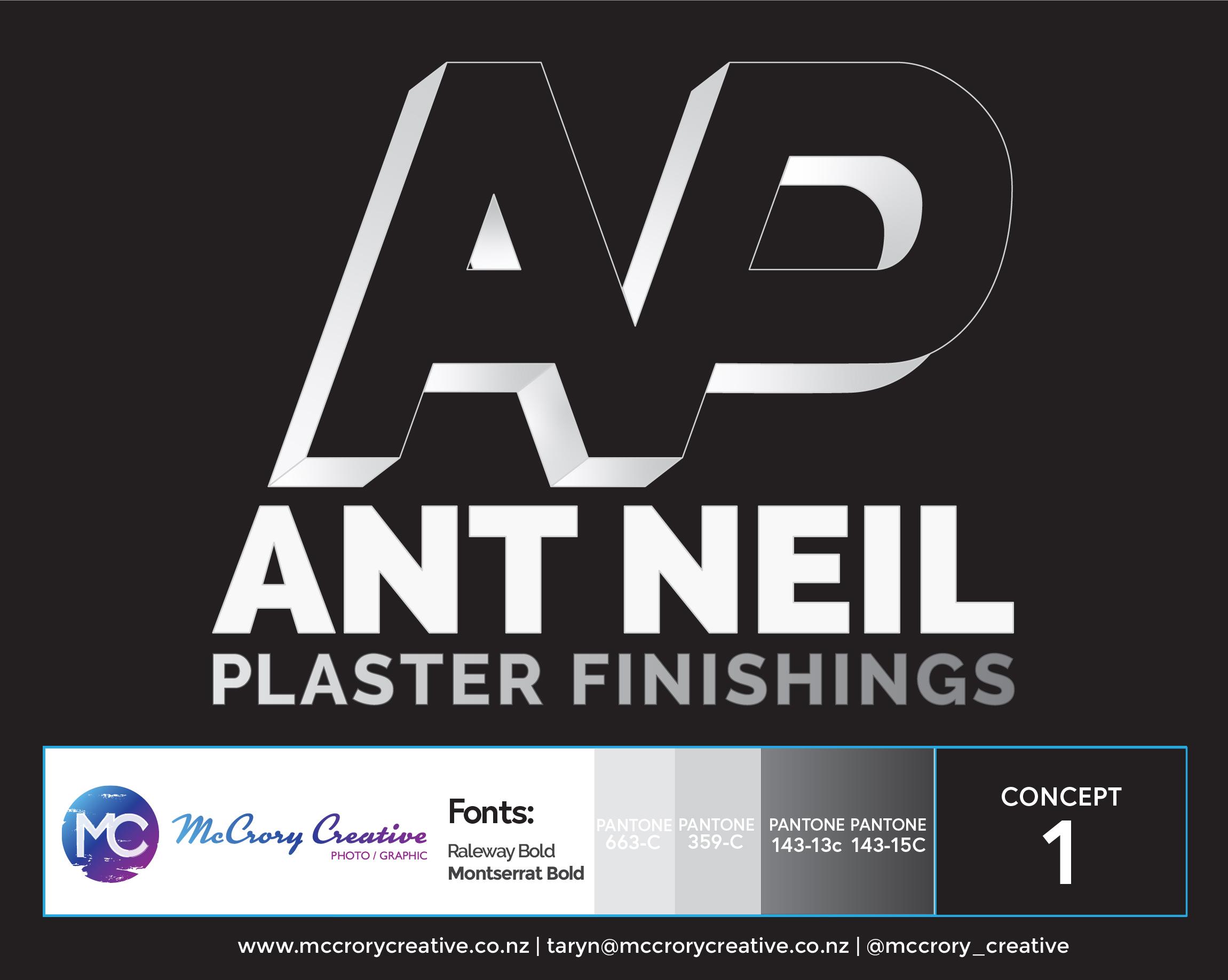 Ant Neil Plastering Logo Design